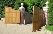 Finished solid oak gates with panels