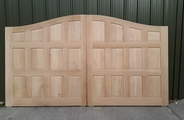Solid oak gates with panels