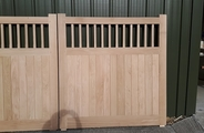 Solid oak gates with tongue and groove boards